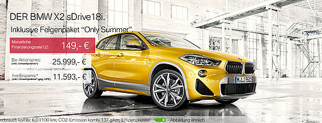 Aktionsangebot BMW X2 sDrive18i kleine UWP