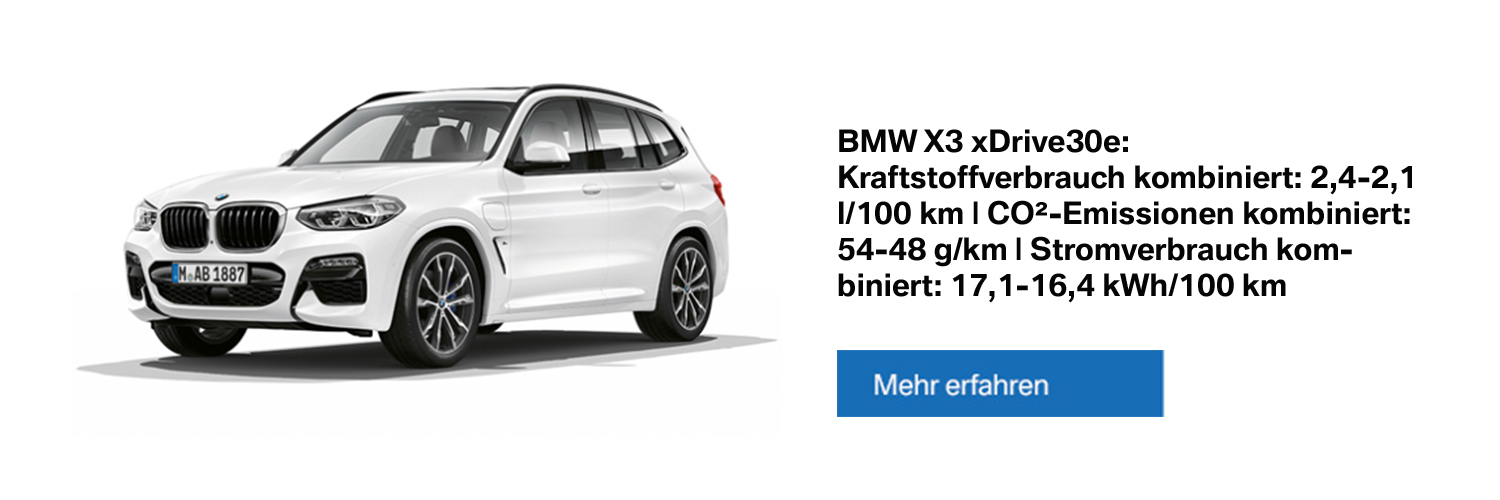 BMW X3 xDrive30e Plug-in-Hybrid - Alle Informationen