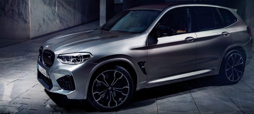 BMW X3 M Automobile frontale Ansicht
