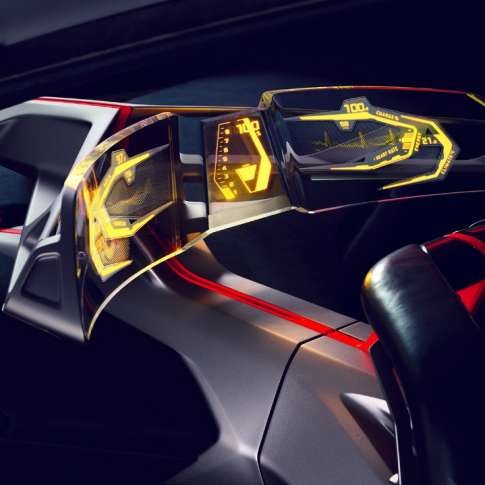 BMW Vision M Next - Curved Glass Display