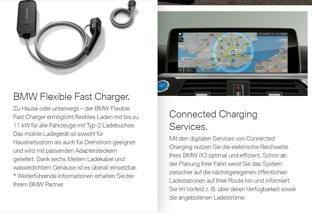 BMW iX3 - Flexible Fast Charger & Connected Charging Services