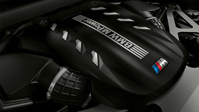 BMW X6 M Competition Twin Turbo Motor